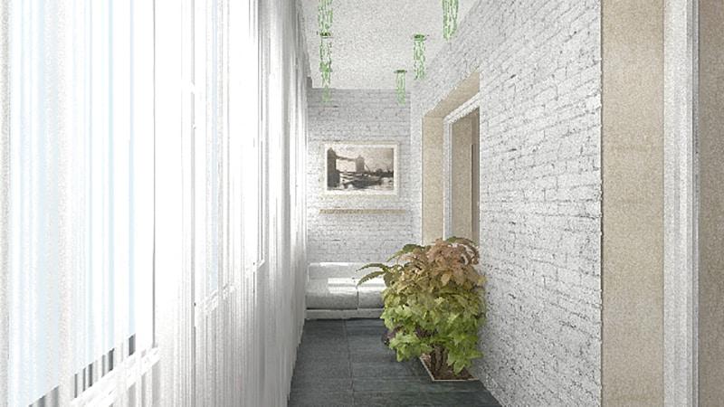 Балкон с кирпичной стеной идеи. - балконные блоки - каталог .