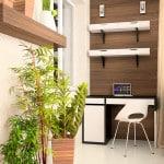 Дизайн рабочего кабинета на балконе