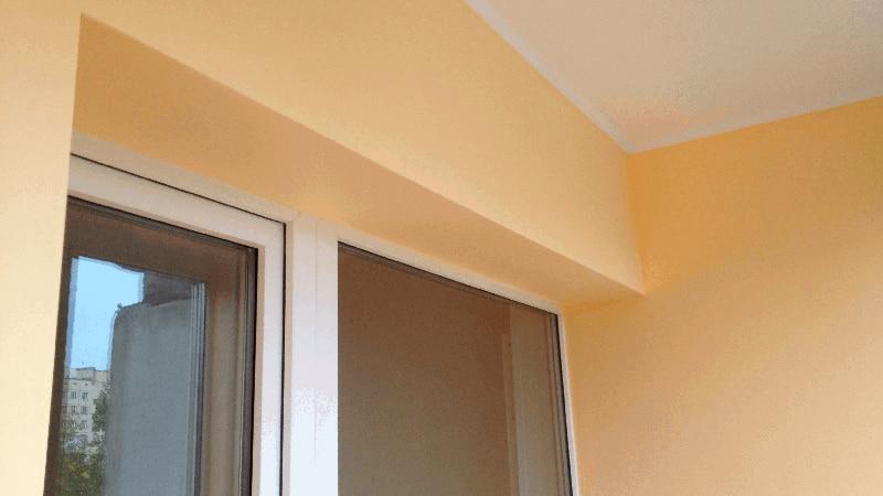 Финишная отделка балкона под покраску