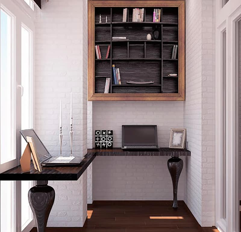 Кабинет на балконе дизайн