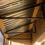 Козырек на балкон из профнастила
