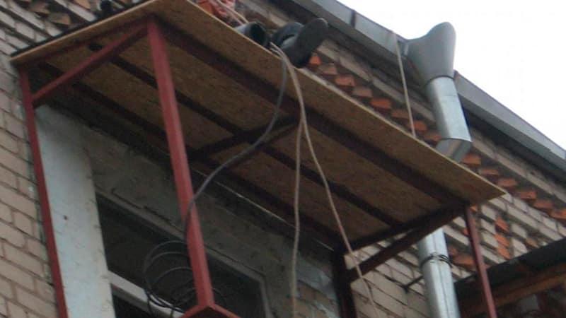Крыша балкона последнего этажа своими руками 35