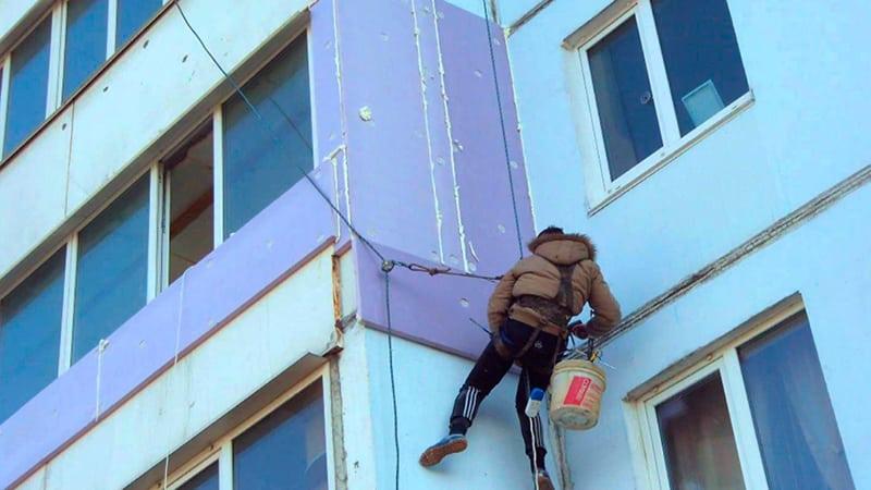 Наружное утепление балкона своими руками