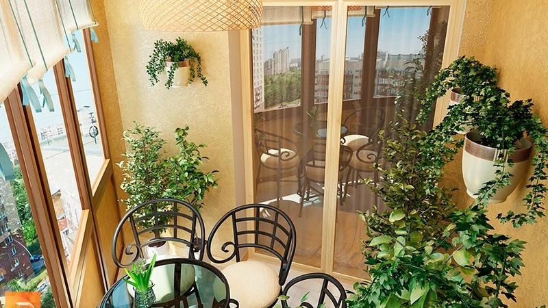 Оформление интерьера балкона