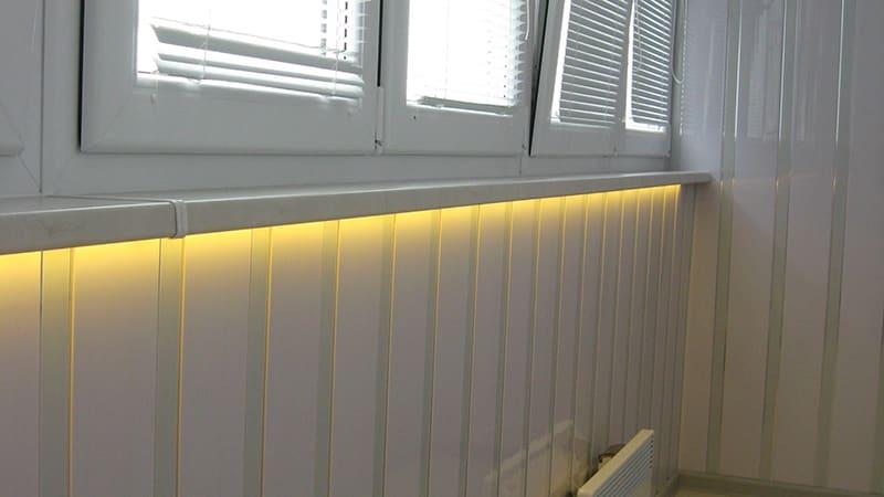 Светодиодное освещение на балконе