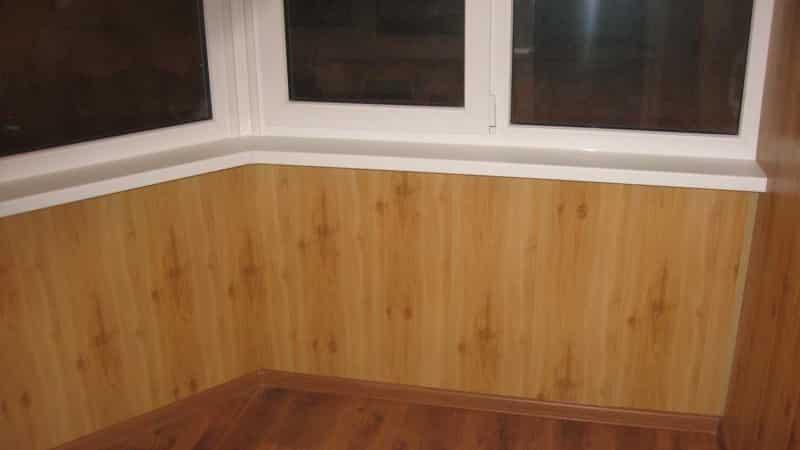 Как обшить балкон ламинатом своими руками