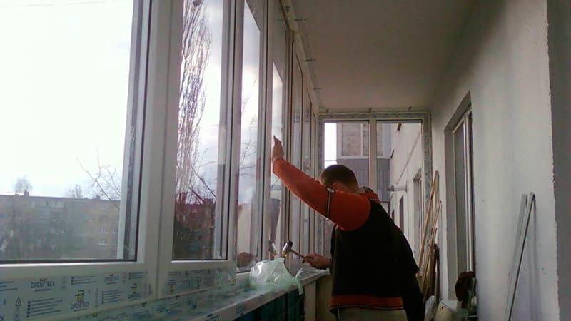 C чего начать остекление балкона