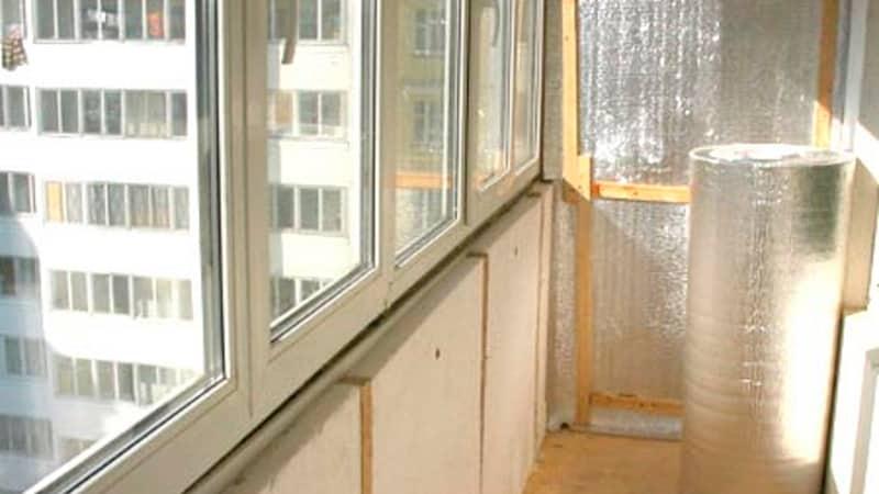 Утепление балкона теплоизоляционным материалом