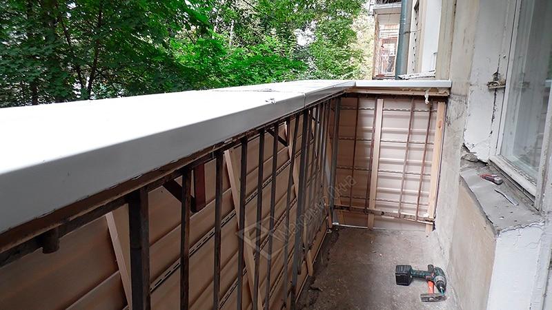 Парапет балкона и лоджии: укрепление и утепеление перед осте.