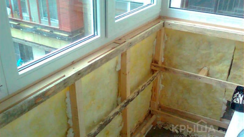 Обшивка и утепление балконов. ремонт балконов и лоджий харьк.