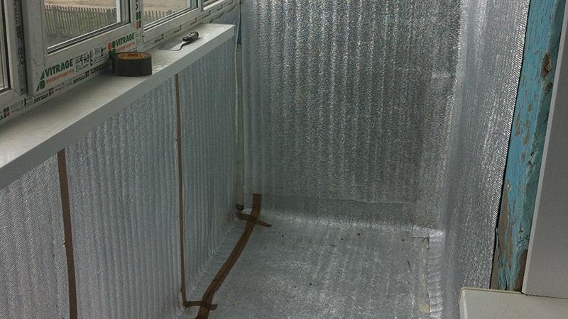 Утепление балкона или лоджии пенофолом своими руками.