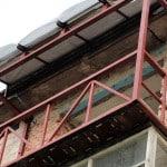 Увеличение балкона со стороны фасада