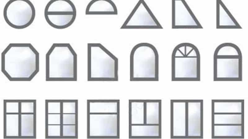 Формы пластикового окна
