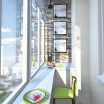 Стойка бара на балконе