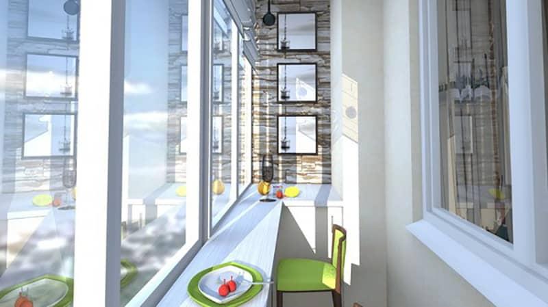 Барная стойка на балконе и лоджии: фото монтажа.