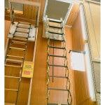 Установка пожарной лестницы