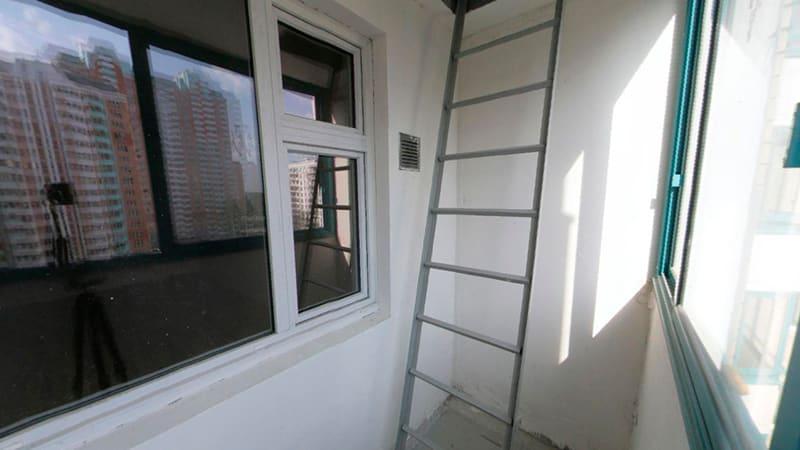 Что делать с лестницей на балконе
