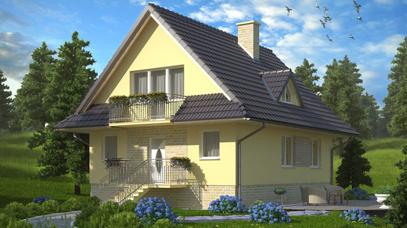 Балкон на мансарде в крыше