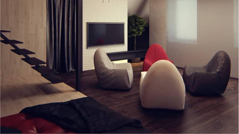 Комната для отдыха на мансарде