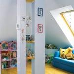 Детская в чердачном помещении