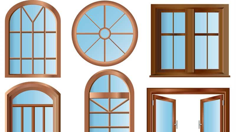 Оконные конструкции из древесины