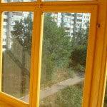 Стекление балкона древесиной своими руками
