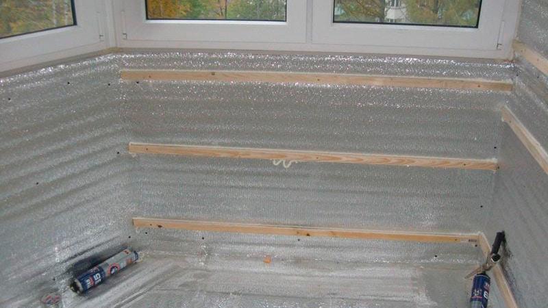 Пароизоляция при утеплении балкона