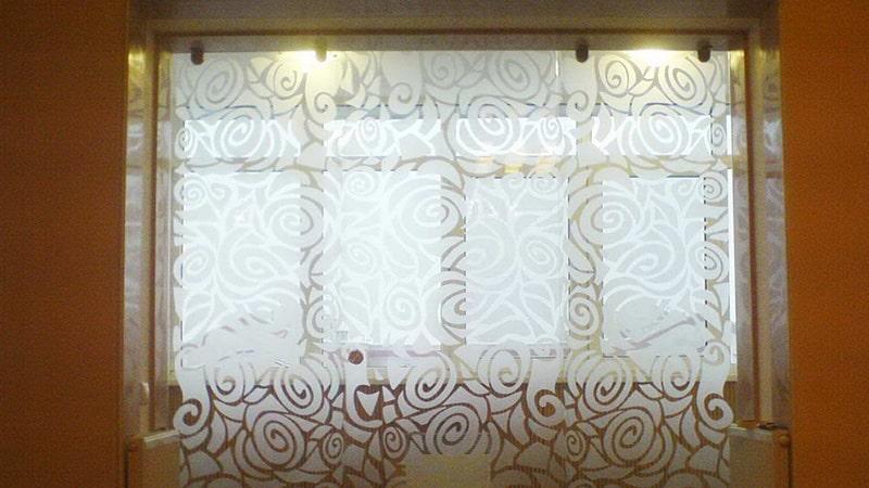 Откатная стеклянная дверь