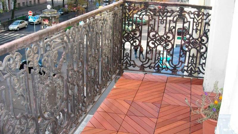 Ремонт открытого балкона