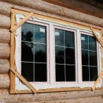 ПВХ окна в доме из бруса