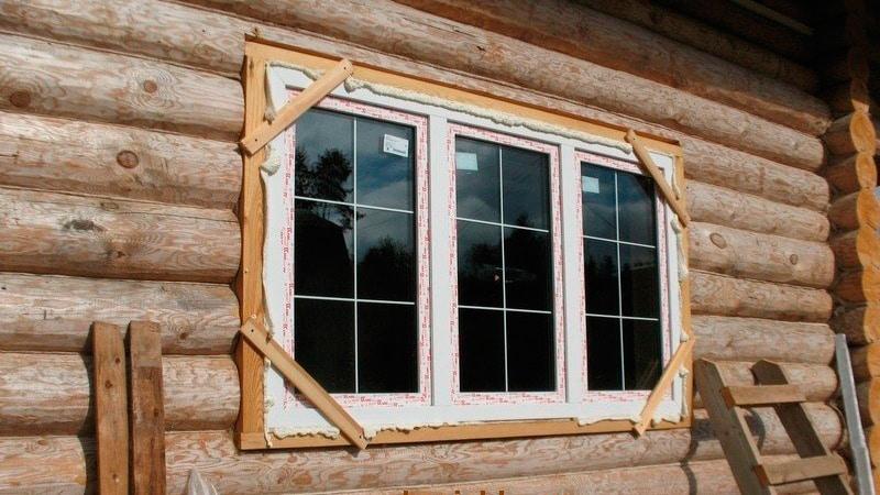 Установка глухого окна в деревянном доме своими руками