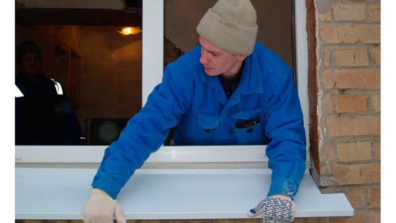 Устанавливаем отливы на окна