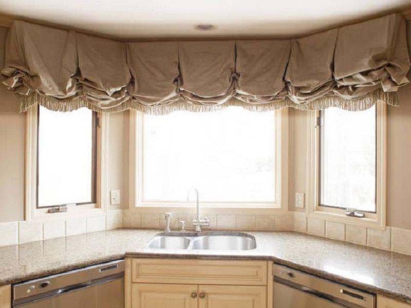 шторы для кухни с эркером фото