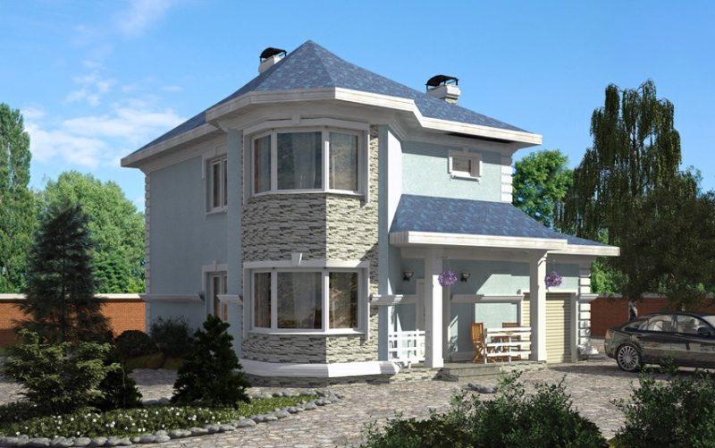 двухэтажные дома с эркером фото