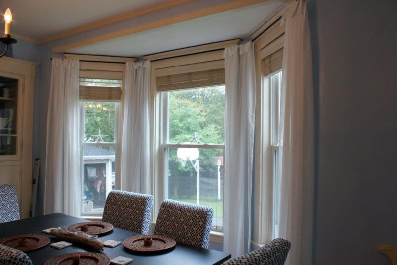 шторы для гостиной для эркера фото