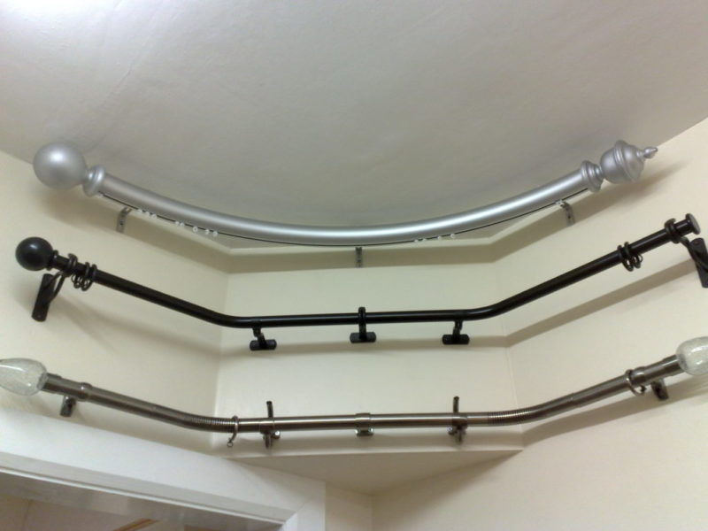 оформление шторами эркера
