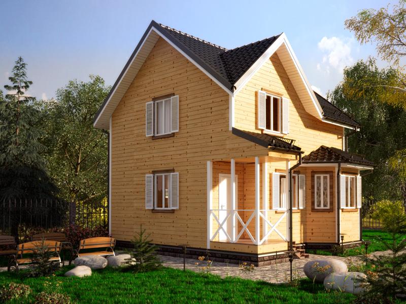 проекты каркасных домов с эркером