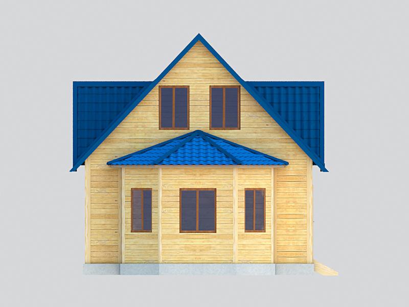 дом с эркером каркасный