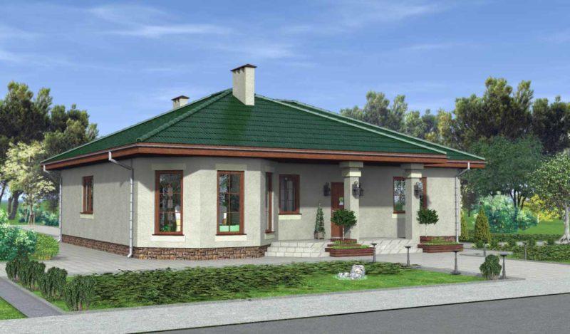 дом с эркером с террасой