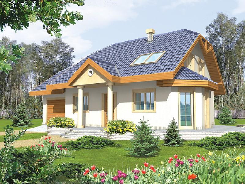 проекты домов с мансардой с эркером