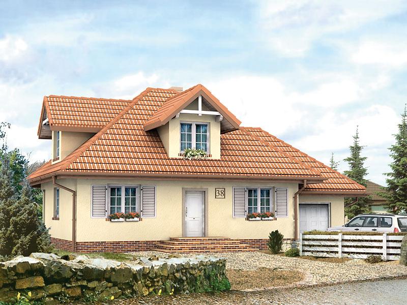 фото домов с мансардой и с эркером
