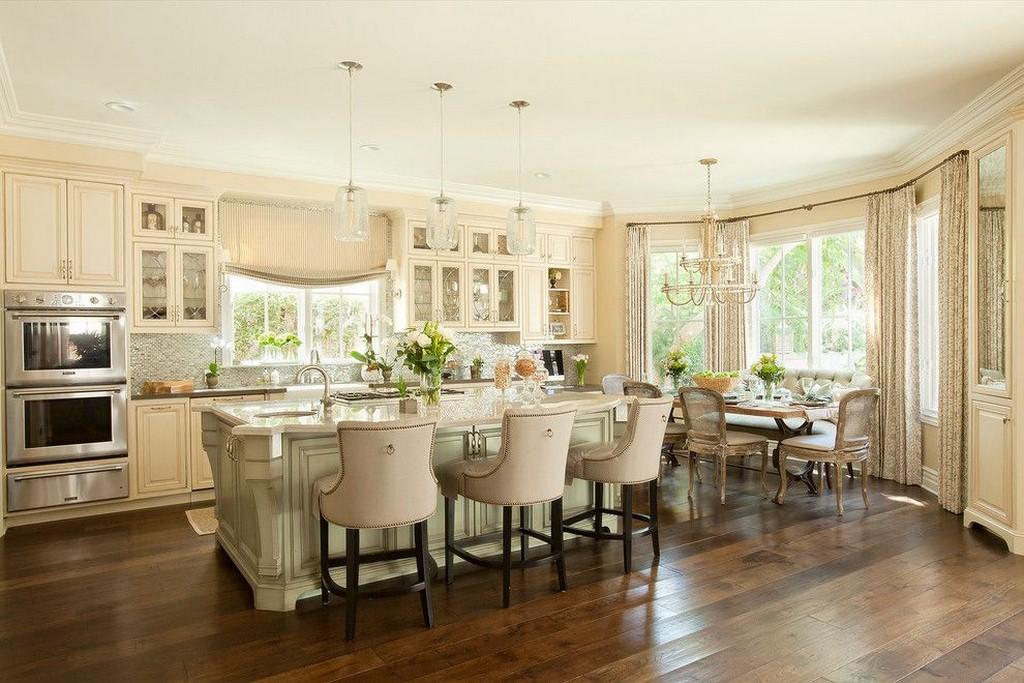дизайн кухни гостиной с эркером фото