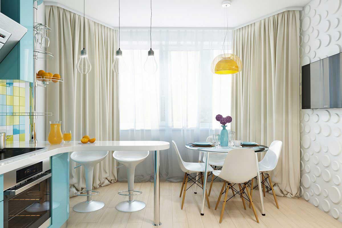 кухни фото с эркером дизайн фото