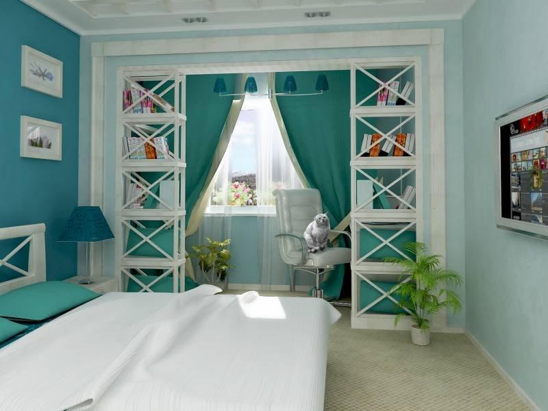 спальни с эркером дизайн