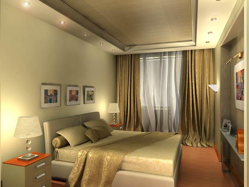 спальня фото с эркером