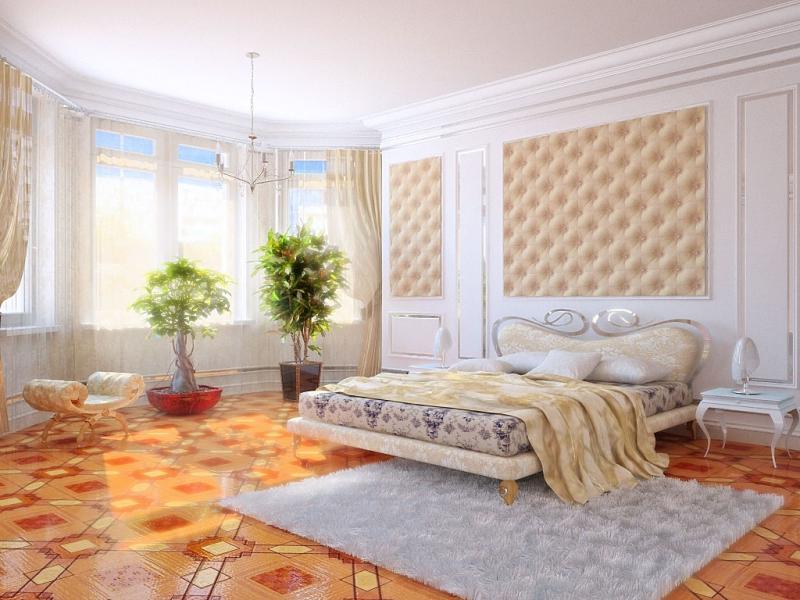 дизайн спальни с эркером в частном доме фото