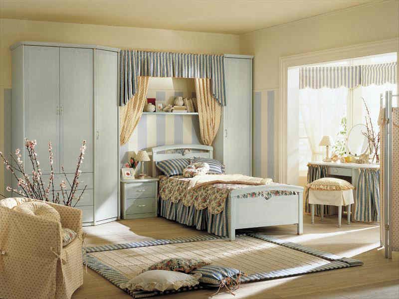 светлая спальня с эркером в современном стиле дизайн фото