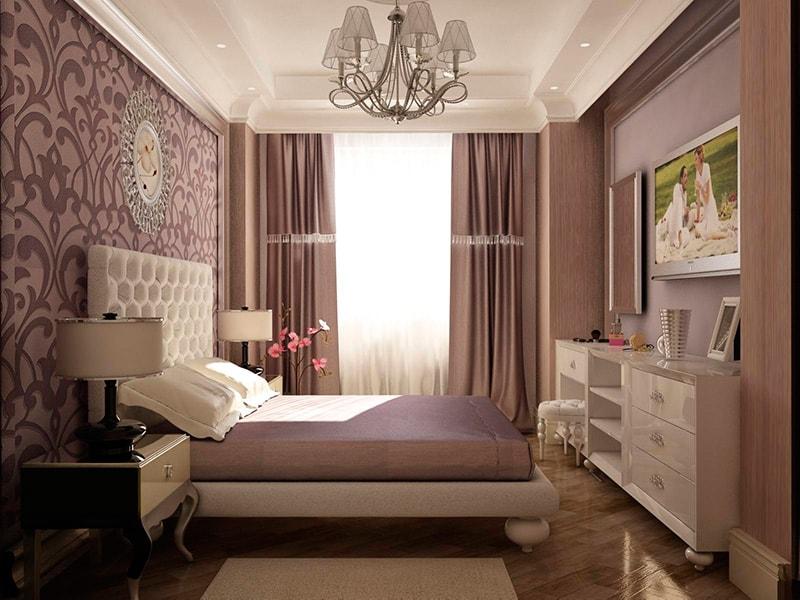 интерьер спальни с эркером фото