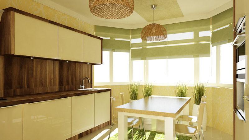 дизайн кухни с эркером п44т фото интерьеров