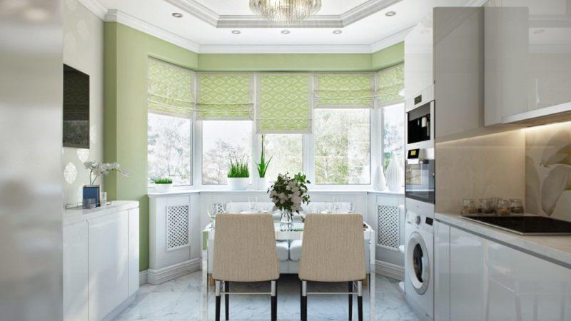 шторы для кухни с эркером п44т фото
